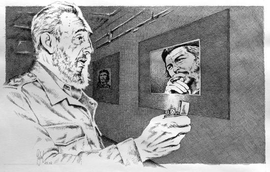 Fidel Castro par Pastis